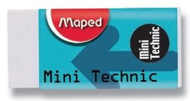 Pryž MAPED Mini Technic 300 bílá měkká (40 x 20 x 18 mm)