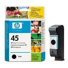HP DJ 7xxC, 8xxC, 11x0C, 1600C, DJ 7x0, black, 42ml, No.45 (51645A) (O)